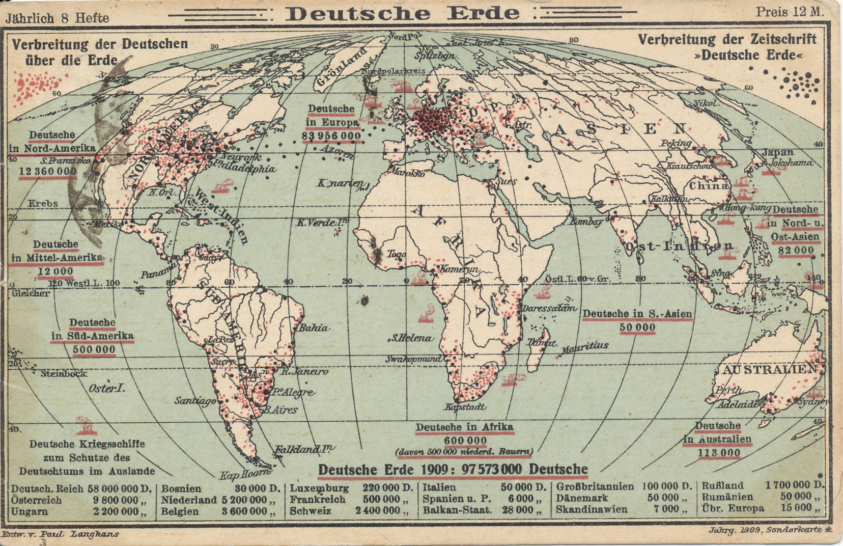 the german speaking world 1909 a postcard from the journal german world