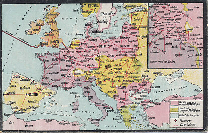railroad and occupied territory map of western and central europe northern africa and turkey